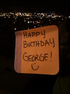 By George!! Happy Birthday